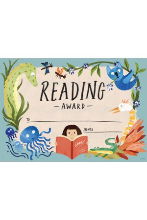 Wild Creatures Reading Award - CARD Certificates (Pack of 20)