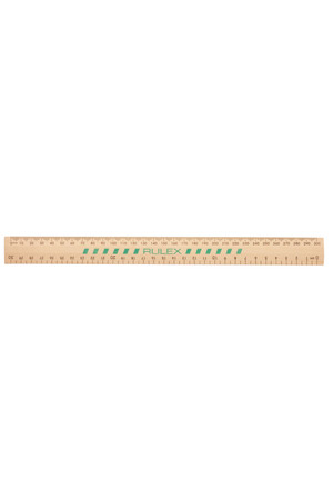 Celco Rulex Ruler - 30cm: Wooden Unpolished (Box of 25)