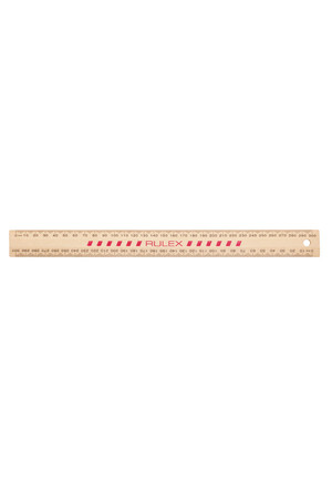 Celco Metric Ruler - 30cm: Wooden Polished (Box of 25)