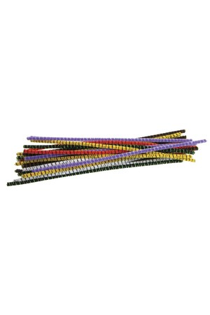 Chenille Stems - Striped (Pack of 100)