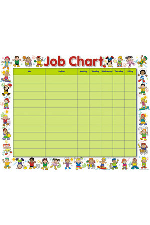Multicultural Friends Job Chart