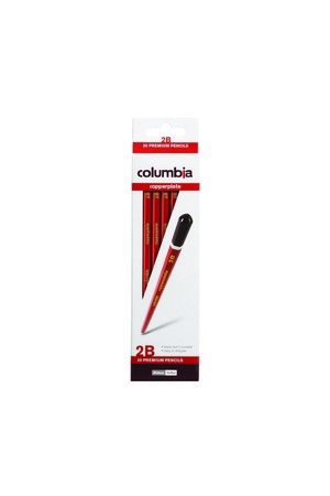 Columbia Copperplate Lead Pencil - 2B (Box of 20)