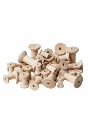 Wooden Spools - Natural (Pack of 50)