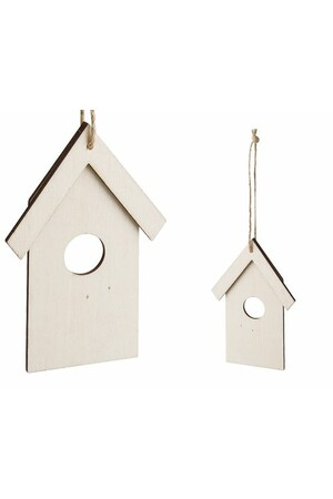 Wooden Birdhouses (Flat) - Pack of 10
