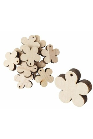 Wooden Flowers - Pack of 12