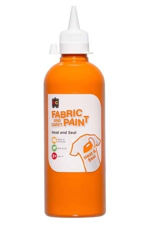 Fabric And Craft Paint 500ml - Orange