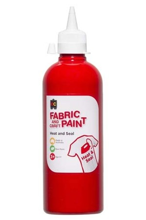 Fabric And Craft Paint 500ml - Red