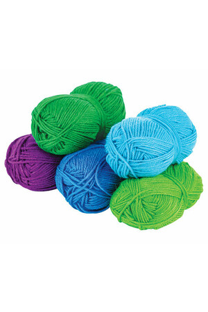Acrylic Wool - Cool Colours (Assorted Pack Of 5)