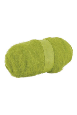 Crafting Combed Wool - Coarse: Leaf Green (100g)