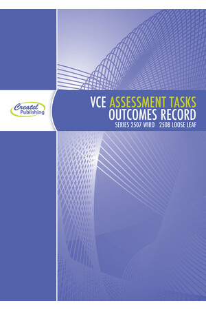 VCE Assessment Tasks & Outcomes Record Book - Wiro Bound