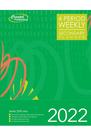 Secondary 4-Period Planner 2020 (Weekly) - Wiro Bound