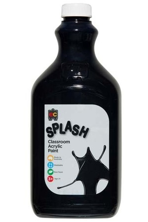 Splash Acrylic Paint 2L - Licorice (Black)