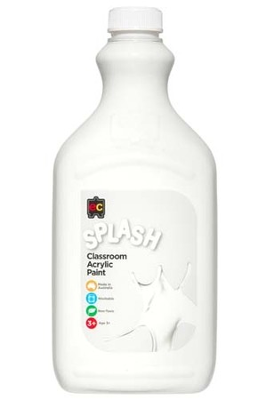 Splash Acrylic Paint 2L - Snowball (White)