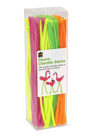 Chenille Stems (30cm) - Pack of 200: Fluoro