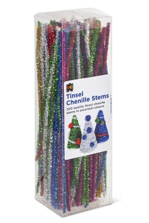 Chenille Stems (30cm) - Pack of 200: Tinsel