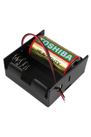Battery Holder - 2D with Leads