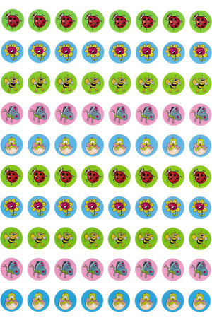 Dynamic Dots Spring Environment Stickers