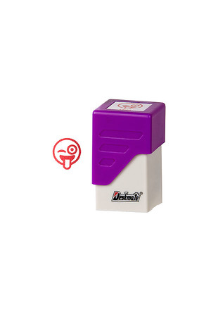Deskmate Stamp Square - Emoji: Wink Tongue