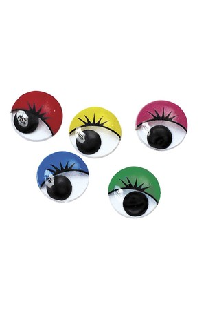 Joggle Eyes with Lashes - Pack of 100