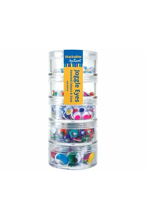 Joggle Eyes - Coloured Stackable (Pack of 450)