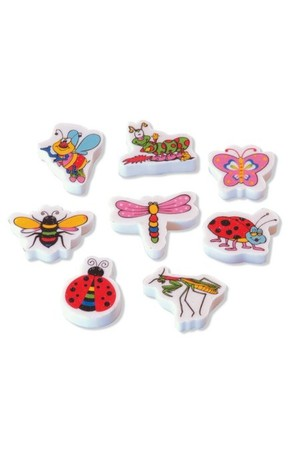 Garden Bugs Erasers - Pack of 20