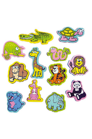 Wild Animals Erasers - Pack of 20