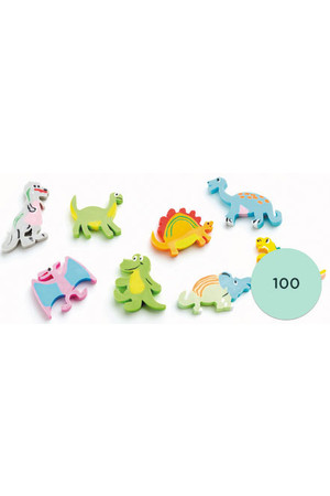 Dinosaurs Erasers - Pack of 100