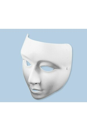Plastic Face Masks - White Lightweight (Pack of 10)
