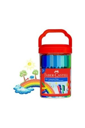 Faber-Castell Markers - Connector Pens: Bucket (Pack of 50)
