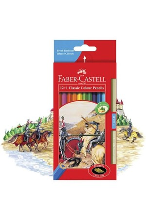 Faber-Castell Coloured Pencils - Classic with Bonus Gold (Pack of 12+1)