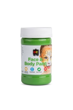 Face and Body Paint 175ml - Green