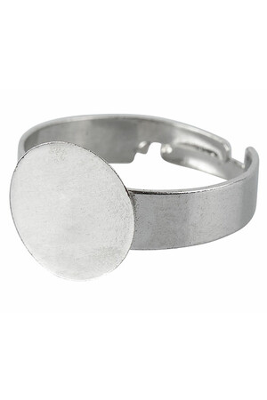 Adjustable Ring Base - Silver