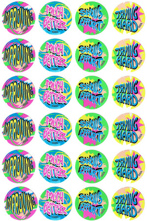 Encouragement Fluoro Stickers