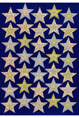 Gold Stars Foil Stickers