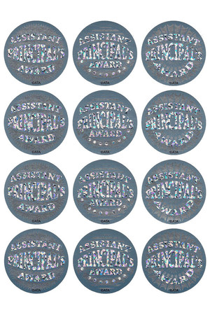 Assistant Principal's Silver Foil Award Stickers - Pack of 72