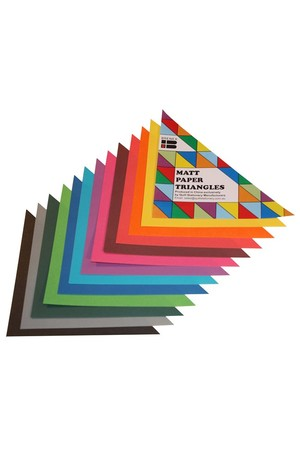 Matt Paper Triangles - Pack of 720