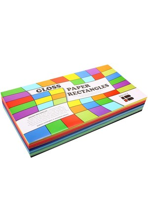 Gloss Paper Rectangles - Pack of 360