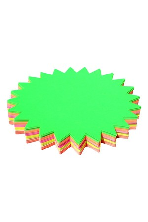 Fluoro Paper Starbursts - 205mm (Pack of 60)