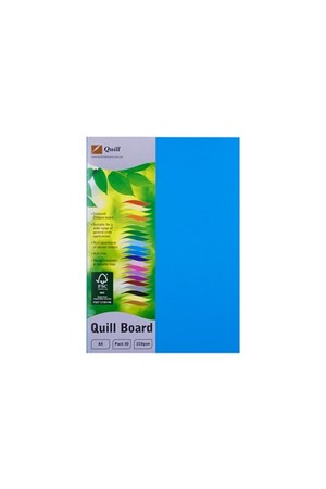 Quill Board 210gsm (A4) - Pack of 50: Marine Blue