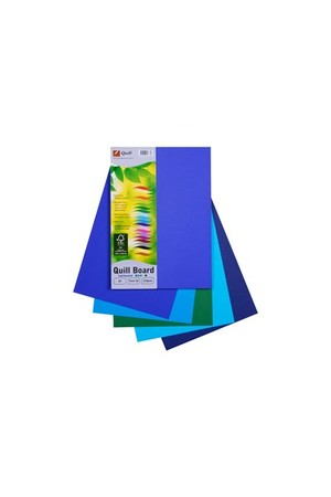 Quill Board 210gsm (A4) - Pack of 50: Cold Assorted