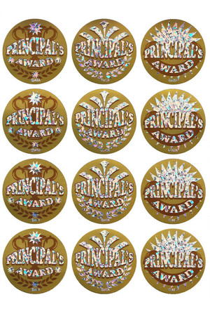 Principal's Award Large Gold Foil Stickers - Pack of 72