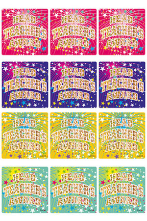 Head Teacher's Award Holographic Laser Stickers - Small 29mm: Pack of 60