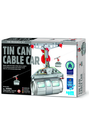 Fun Mechanics Kit - Tin Can Cable Car