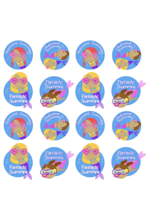 Mermaid Swim Fun - Reward Stickers