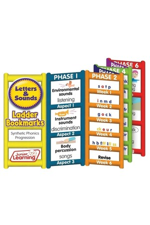 Letters and Sounds - Ladder Bookmarks