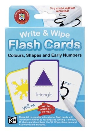 Write & Wipe Flash Cards - Colours, Shapes and Early Numbers