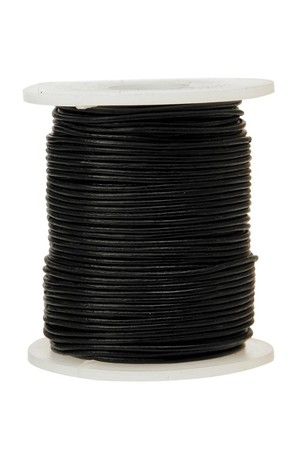 Leather Cord - Black (50m)