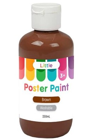 Little Easy Washable Poster Paint - Brown (250ml)
