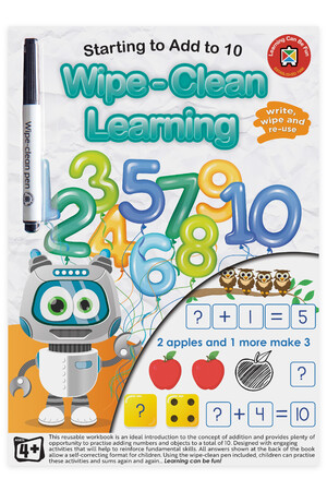 Wipe-Clean Learning Starting To Add To 10