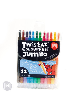 Micador Crayons - Twistaz Colourfun Jumbo: Pack of 12